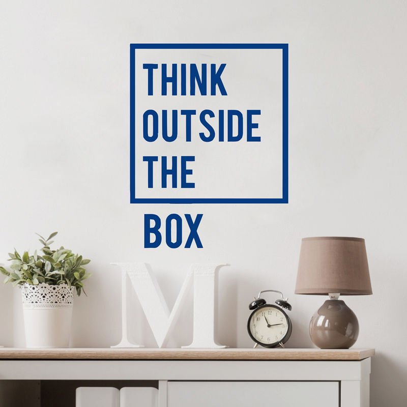 We Have To Think Outside The Box Decal Sticker Funny