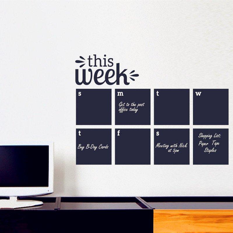 2018 weekly wall planner - calendar wall decal   walling shop