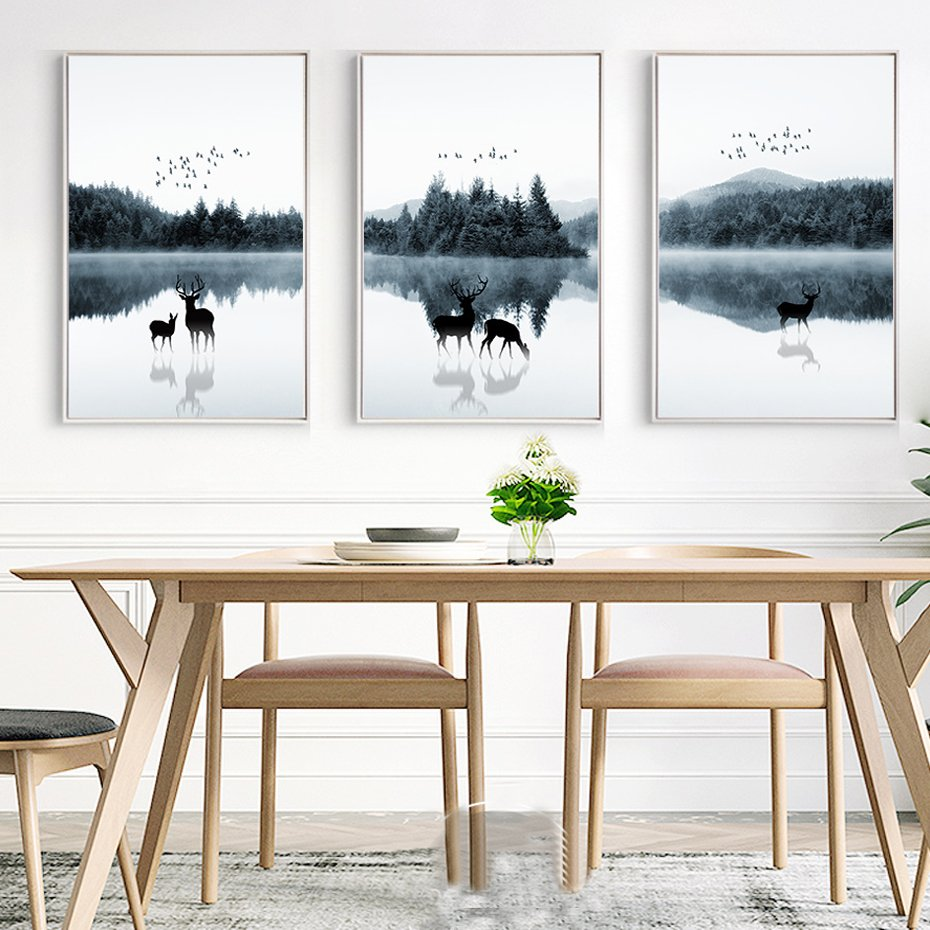 Creative Three-Piece Canvas Wall Art Ideas For Your Home