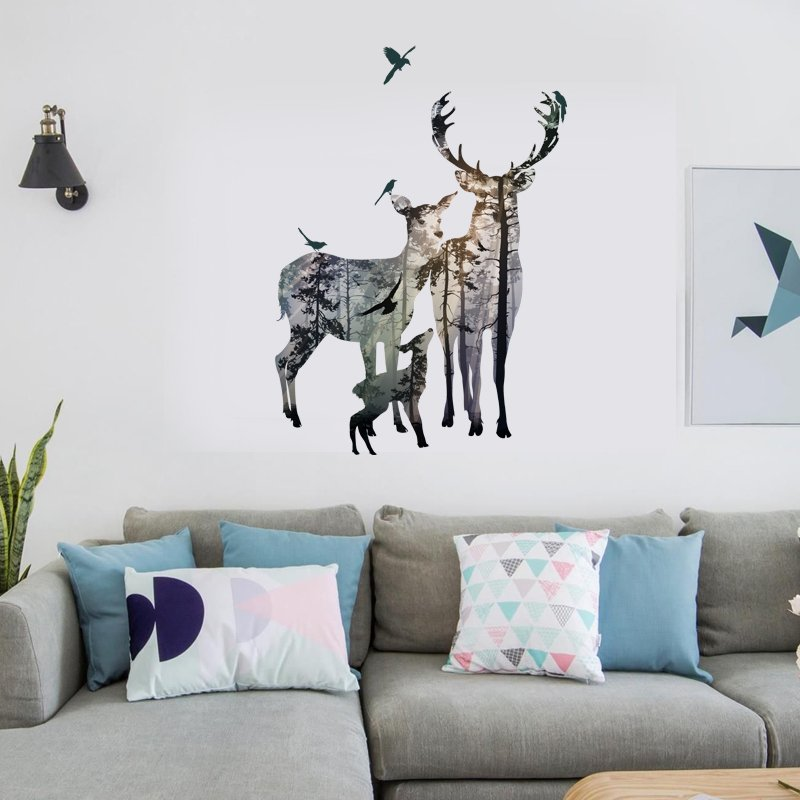 captivating living room wall art stickers | 10 Amazing Wall Stickers that Easily Blends to Any Room ...