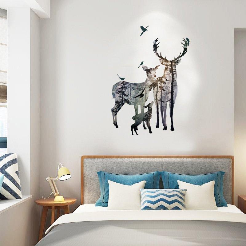 Elk Forest Silhouette Wall Sticker Walling Shop