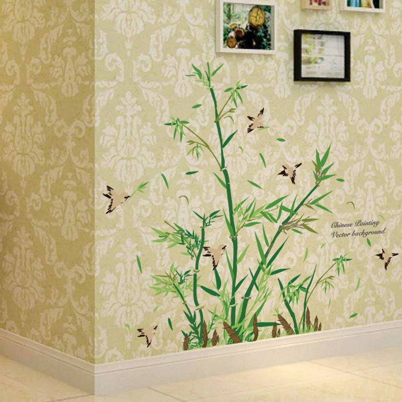 Contemporary Green Bamboo Wall sticker