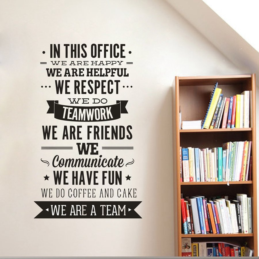 We Respect Teamwork Office Rules Wall Sticker Quote
