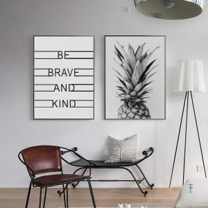 Pineapple-Be-Brave-and-Kind-Classic-Quotes-Canvas-Painting-Black-White-Nordic-Wall-Art-Picture-for.jpg