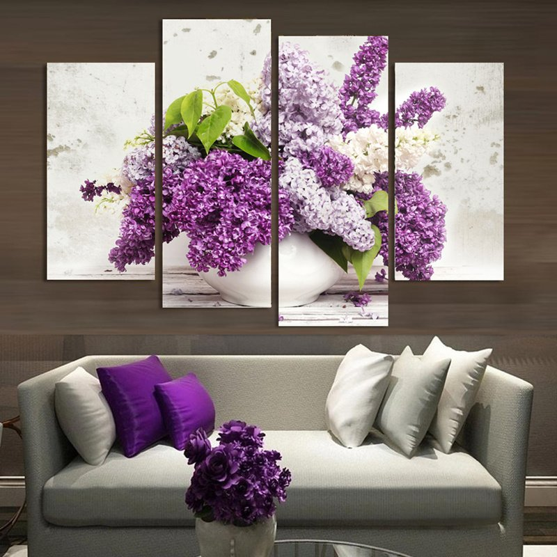 c06eb4b3e1b Lavender Flowers Canvas Wall Art