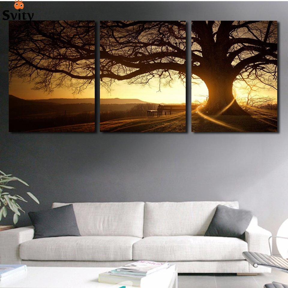 Cuadros Sunset 3 Panel Canvas Wall Art | Walling Shop