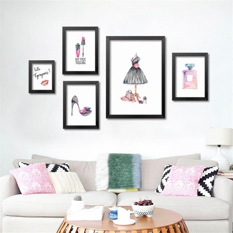 Modern Fashion Trendy Girl Wall Art Walling Shop