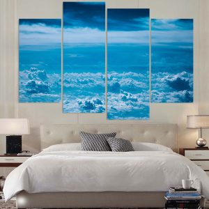 Canvas-Home-Decoration-Large-Poster-Painting-Wall-Art-Frame-4-Panel-HD-Printed-Clouds-Blue.jpg