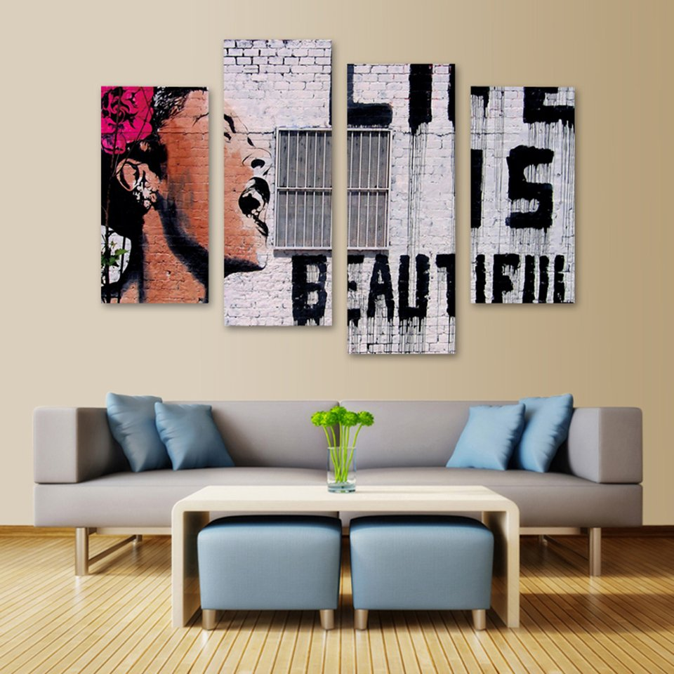 Life Is Beautiful Wall Canvas Painting