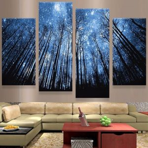 HD-Printed-Living-Room-Canvas-Poster-Frame-4-Panel-Star-Night-Tall-Tree-Landscape-Art-Painting.jpg
