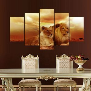 HD-Printed-Modular-Abstract-Pictures-Frame-Canvas-5-Panel-Animal-Lions-Sunset-Landscape-Home-Decor-Wall.jpg