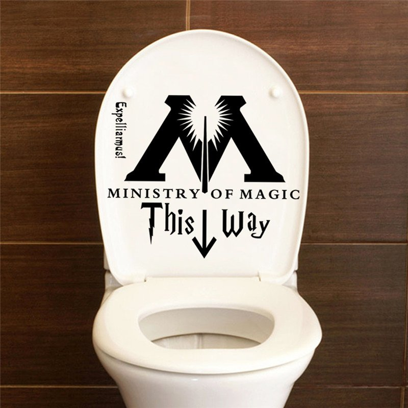 Harry Potter Ministry Of Magic Toilet Seat Sticker
