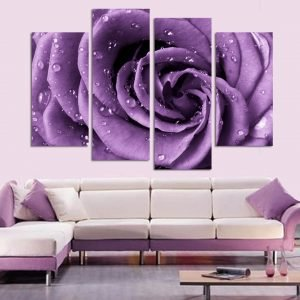 Wall-Art-Home-Decor-Frame-Canvas-4-Panel-Beautiful-Purple-Rose-Painting-Poster-For-Living-Room.jpg
