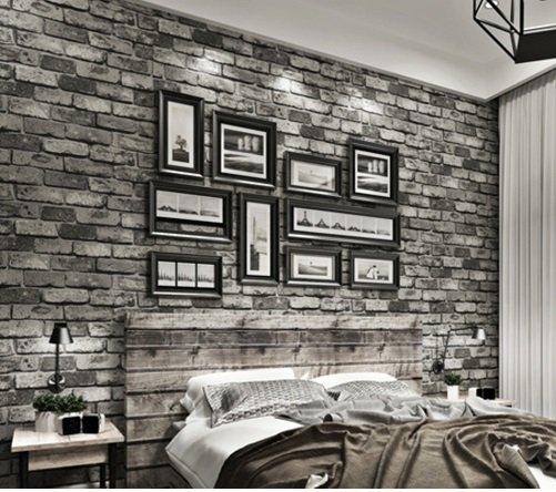 Vintage Bricks Textured Wallpaper Embossed Walling Shop