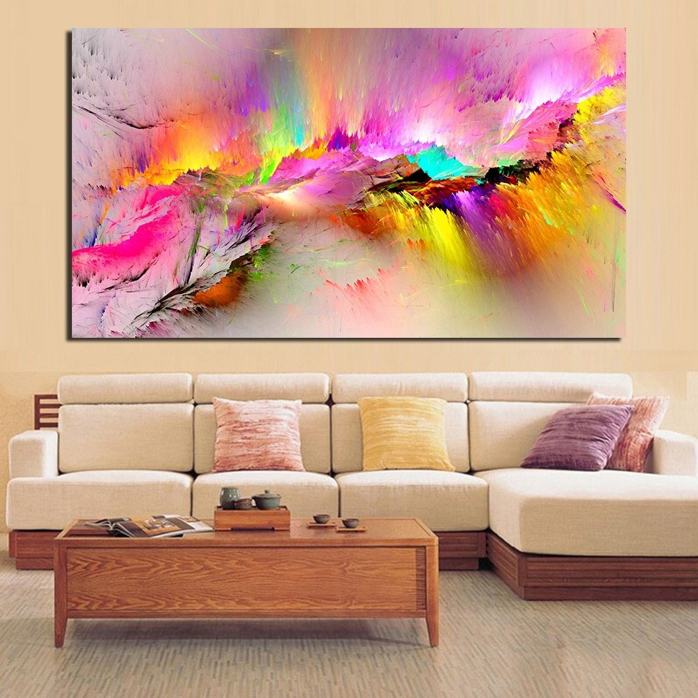 Jqhyart Abstract Oil Paint Wall Canvas