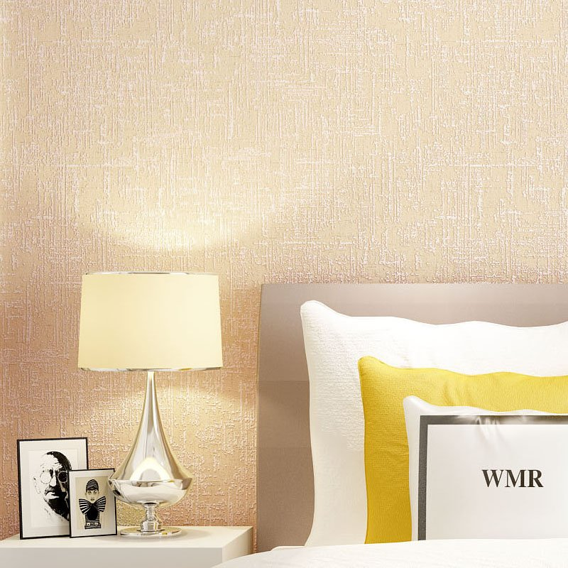 Paysota Modern Simple Solid Color Yellow Wallpaper Bedroom: Curtis Embossed Solid Wallpaper
