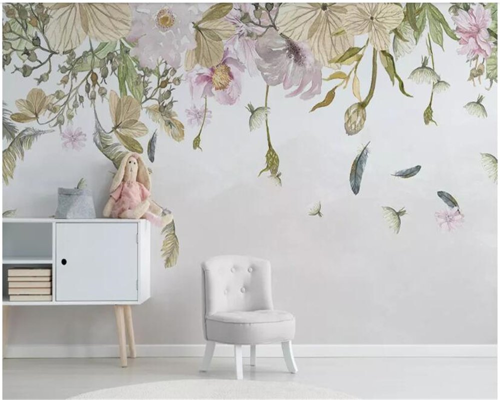 Modern Minimalist Fresh Leaves Floral Wallpaper Walling Shop