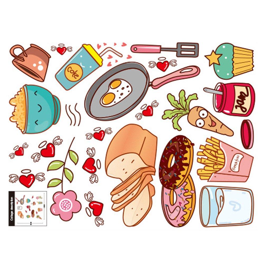 57 30 Cm Cartoon Kitchen Cooking Utensils Sticker