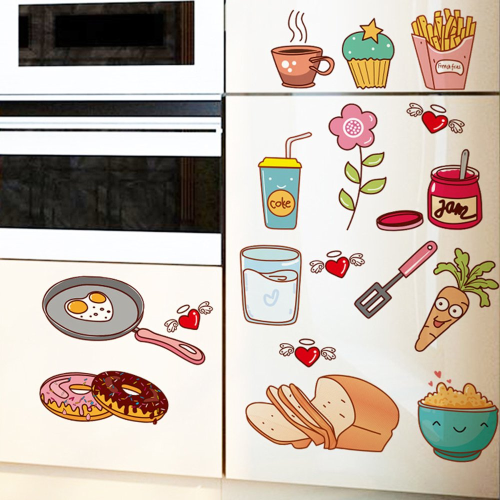5730 Cm Cartoon Kitchen Cooking Utensils Sticker