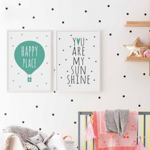 07G-Simple-Abstract-Happy-English-Phrase-A4-Canvas-Art-Painting-Print-Poster-Picture-Wall-Baby-Children.jpg