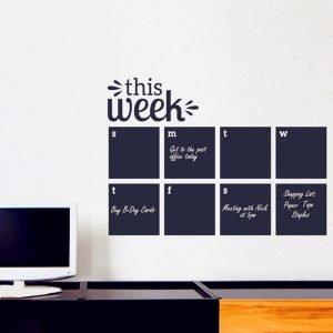 2016 Weekly Wall Planner Calendar Wall Decal Chalkboard