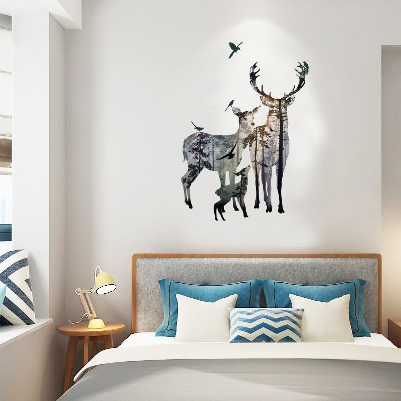 Elk Forest Silhouette Wall Sticker
