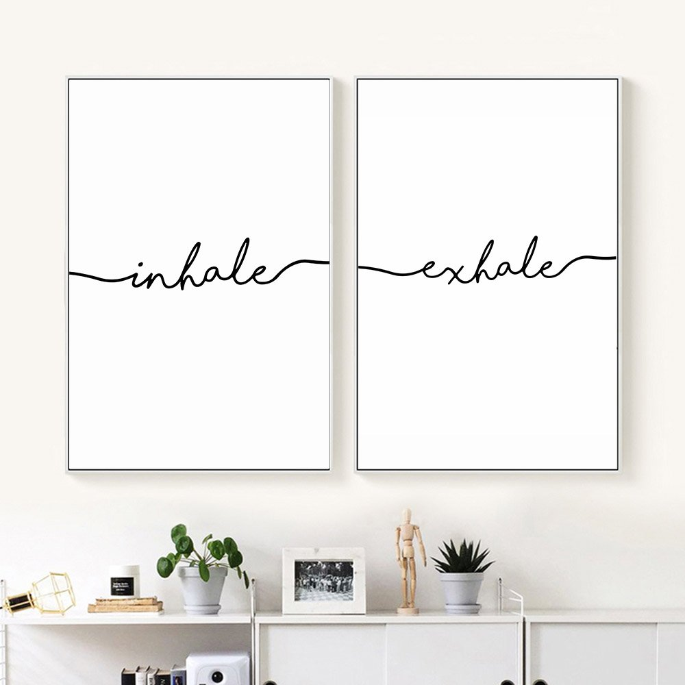 Inhale Exhale Nordic Wall Art
