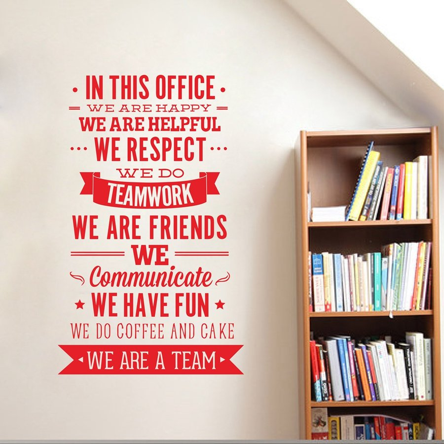 We Respect Teamwork Office Rules Wall Sticker Quote ...