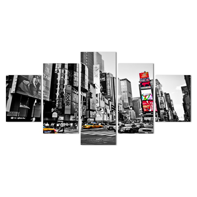 5 Panel New York City Hd Canvas Print | Walling Shop