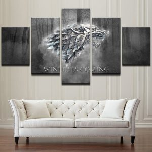 Canvas-Wall-Art-Prints-Winter-Is-Coming-Painting-Frame-Modern-Pictures-5-Panels-TV-Play-Game.jpg