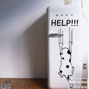 Funny-Cartoon-Cute-Cat-Dog-Help-Quote-Wall-Sticker-Home-Decorative-Wall-Decals-Stickers-Kitchen-Refrigerator.jpg