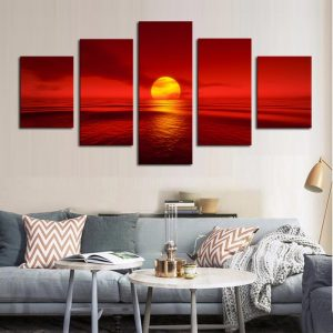 HD-Print-Modular-Pictures-Frame-Canvas-5-Panel-Sunset-Red-Sun-Sea-Natural-Landscape-Painting-Home.jpg