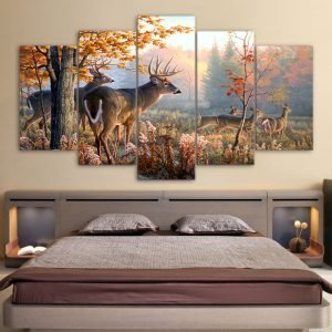 Modern-Wall-HD-Printed-Canvas-Painting-Art-Modular-Poster-Frame-5-Panel-Forest-Deer-Landscape-Home.jpg