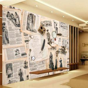 beibehang-European-retro-newspaper-TV-background-wall-custom-large-mural-green-wallpaper-papel-de-parede-para.jpg
