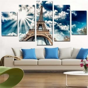 Artryst-Canvas-Painting-Eiffel-Tower-Wall-Sticker-Sunshine-Pictures-A4-Print-Poster-Modern-for-Home-Decor.jpg
