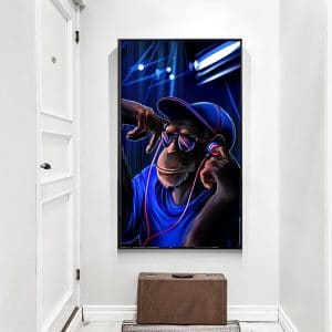 MUTU-Canvas-Painting-monkey-with-headphones-listening-music-On-Headphones-Prints-And-Posters-Wall-art-Picture.jpg